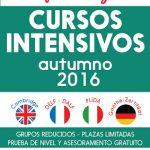 Otoño 2016 - Cursos intensivos