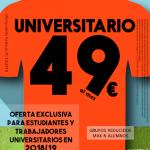 Oferta para universitarios 2018/19