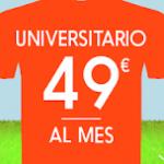 Universitarios: 49€ al mes