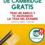 Este Agosto: te abonamos la tasa del examen Cambridge