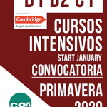 Cursos intensivos Cambridge Primavera 2020